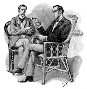 Original illustration of Holmes and Watson