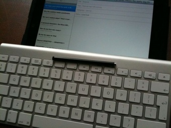 A glimpse of the future – alternative input methods for the iPad