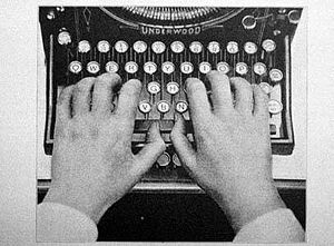 "The ""QWERTY"" layout of typewriter ke..."